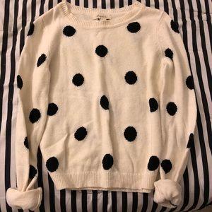 Forever 21 polka dot sweater